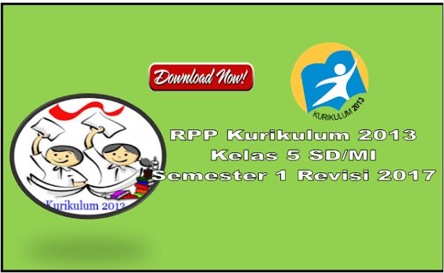 RPP Kurikulum 2013 Kelas 5 SD Semester 1