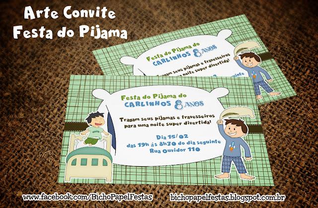 Convite Festa do Pijama Menino