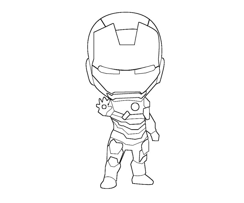 Drawing Avengers Iron Man Hulkbuster Sketch Coloring Page