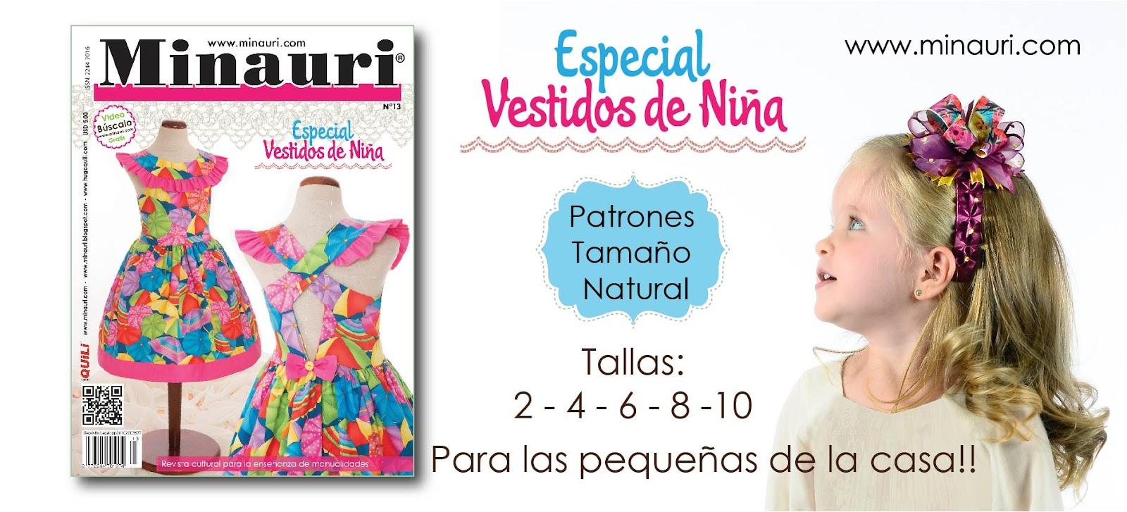 Revista Minauri Vestidos Niñas Nro. 13