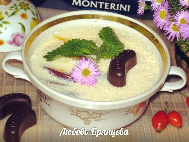фруктовое суфле на молоке и ряженке
