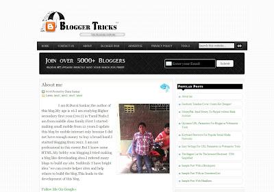Blogger Tricks Blogger Template