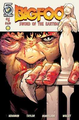 bigfoot sword of the earthman bigfoot comic action lab issue six barbarian bigfoot graphic novel