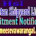HSL (Hindustan Shipyard Limited) Recruitment Notification 2016 hslvizag.in Last date 24-09-2016
