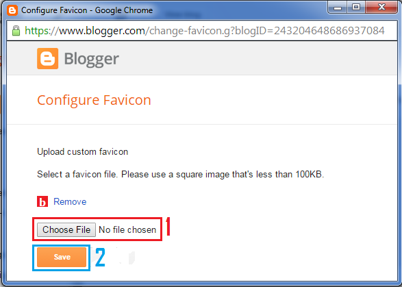 configure favicon