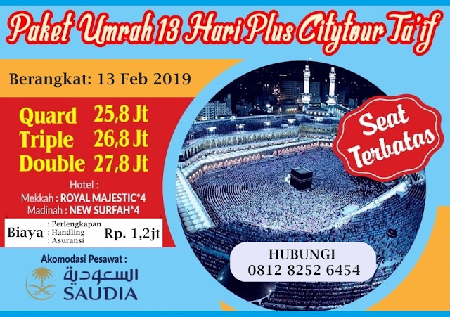 Umroh Plus Thaif 2019 Program 13 Hari