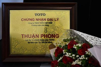 Hita - Thuận Phong được Chứng nhận là đại lý cấp 1 kinh doanh thiết bị vệ sinh TOTO