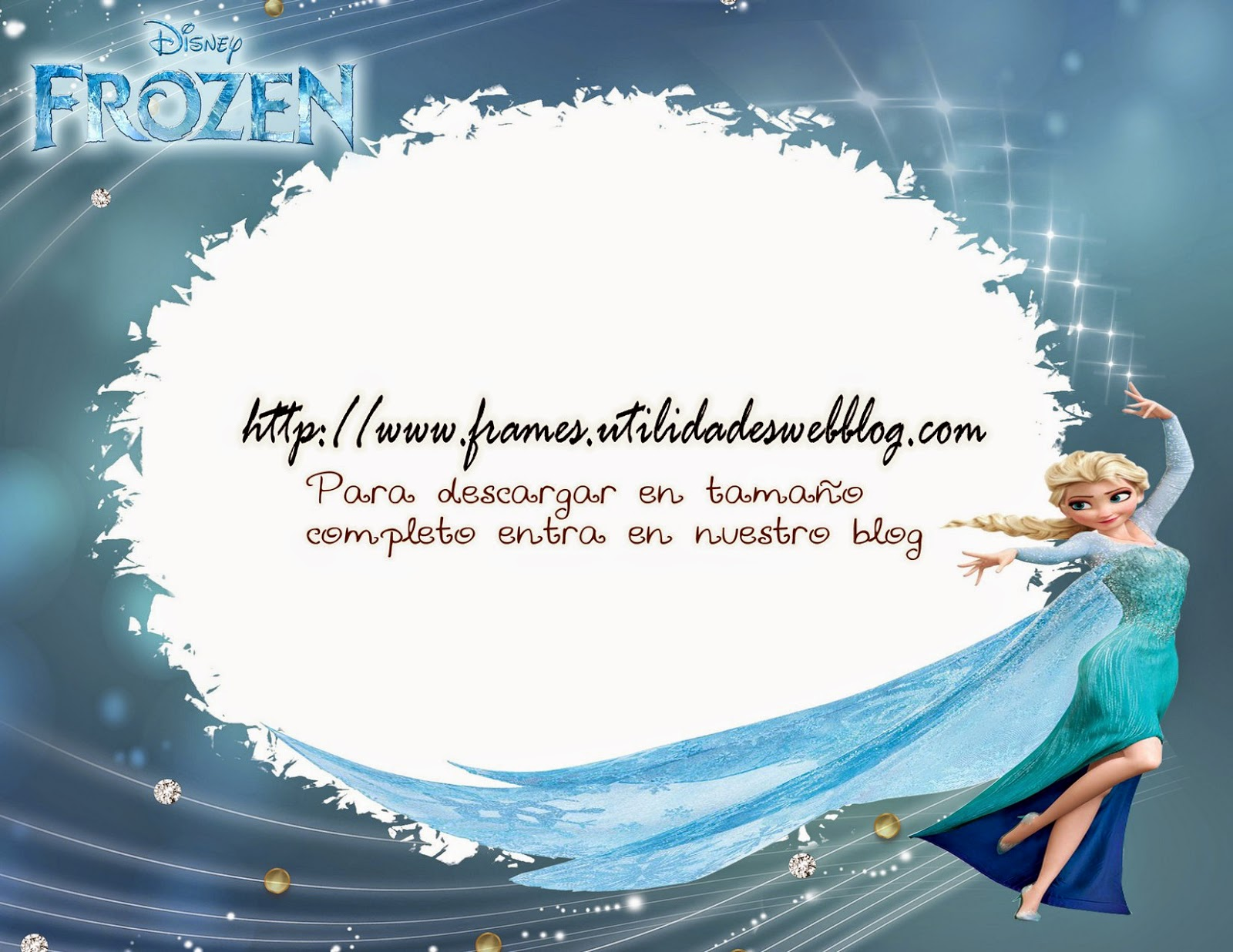 Bonito marco para fotos infantiles inspirado en Frozen