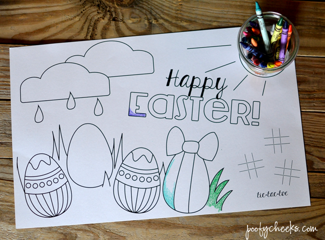Free Printable Placemat For Easter Dinner