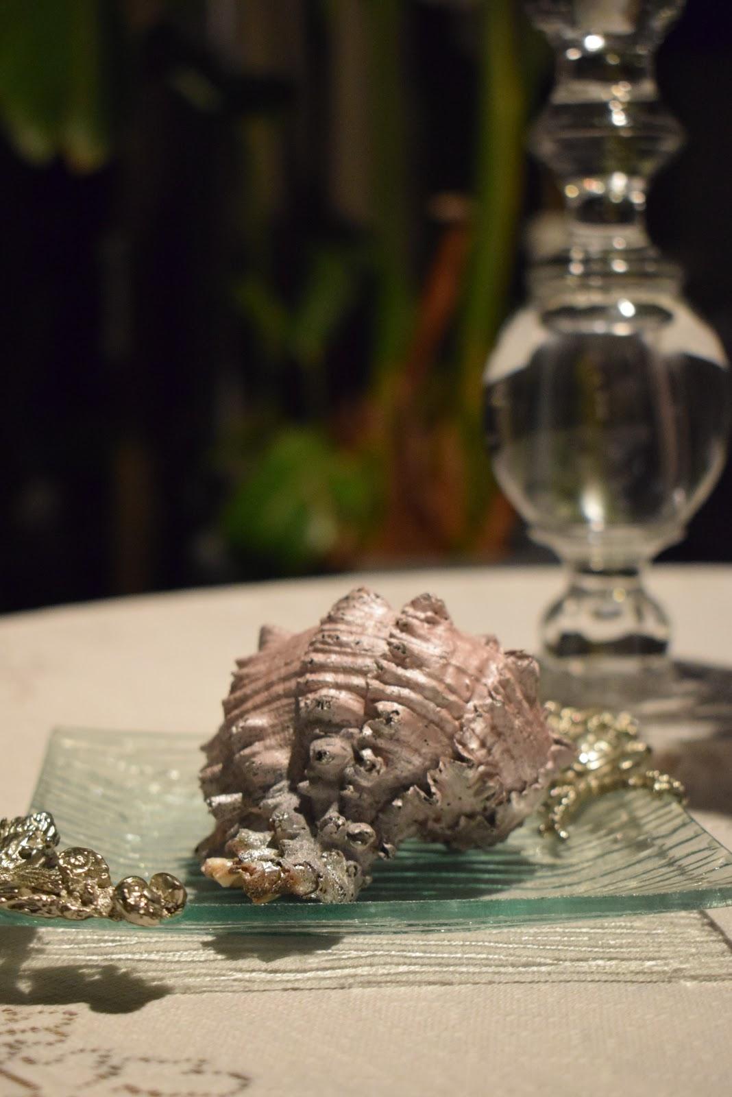 Patio, Table Cloth & Decor; Seashells