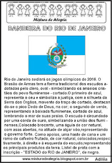 Jogos olímpicos e bandeira Rio de Janeiro