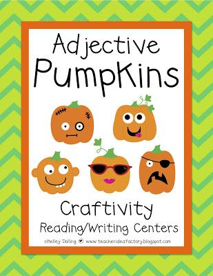 A Day in First Grade Making Grammar Fun! \u2014 Adjective Pumpkins!