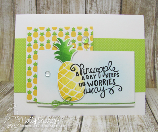Pineapple Card Card by Holly Endress featuring Newton's Nook Designs Pineapple Delight #newtonsnook