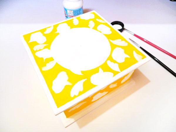 caja joyero con pintura decorativa acrilicos