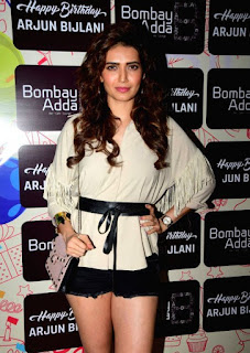 Actress Karishma Tanna celetes actor Arjun Bijlani's Birthday in Mumbai
