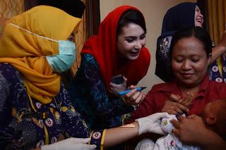 Arumi Bachsin Kampanyekan Pentingnya Imunisasi Measles Rubella