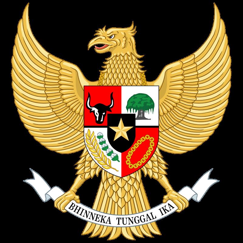 Logo Gambar Lambang Simbol Negara Indonesia PNG JPG ukuran 800 px