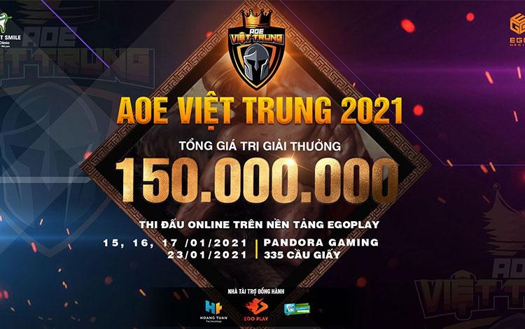 """Thông báo chính thức giải đấu """"AOE Việt Trung 2021""""."""