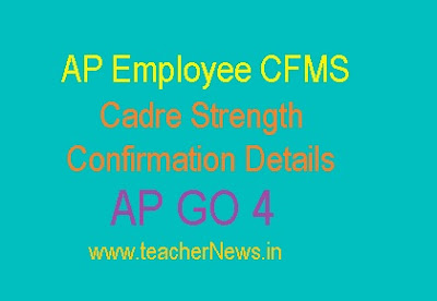 AP Employee CFMS Cadre Strength Confirmation Details GO 4