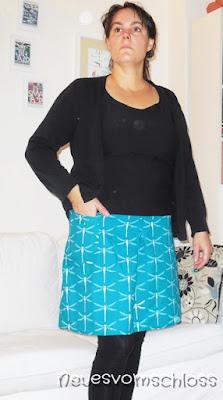 12 letters of handmade fashion (Oktober 16), memademittwoch, Rock Frau Hedi- neuesvomschloss.blogspot.de
