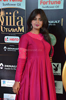 Monal Gajjar in Maroon Gown Stunning Cute Beauty at IIFA Utsavam Awards 2017 027.JPG