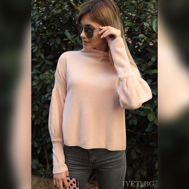 Μακρυμάνικη γυναικεία ροζ μπλούζα RAINA PUDRA