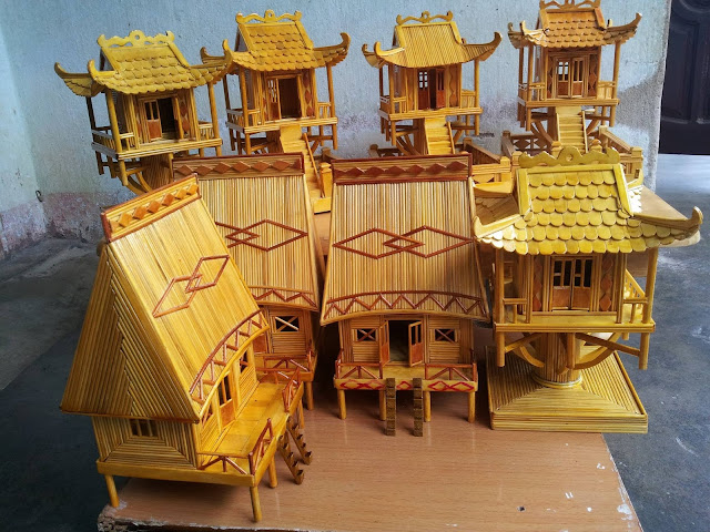 Mô hình tăm tre chùa một cột Hà Nội