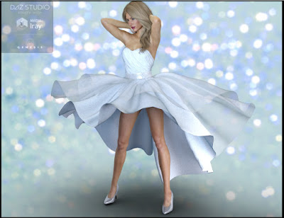 Party Gown Outfit for Genesis 3 Female