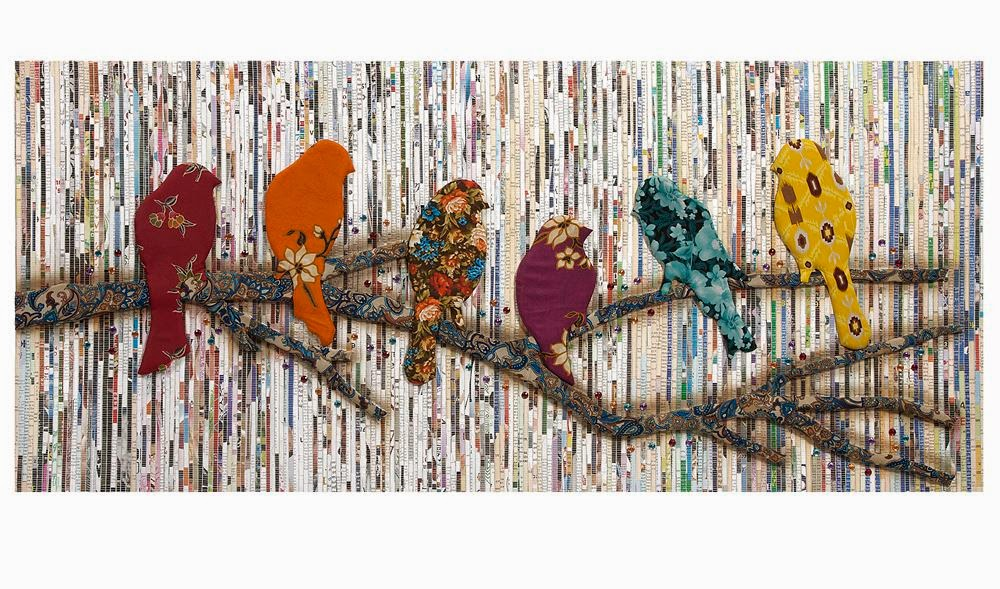 newspaper wall decor project ~ Art Craft Gift Ideas
