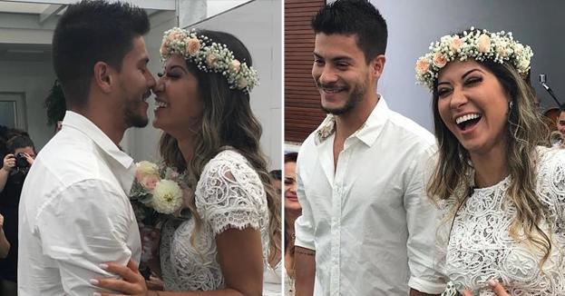 Mayra Cardi armou casamento surpresa para Arthur Aguiar