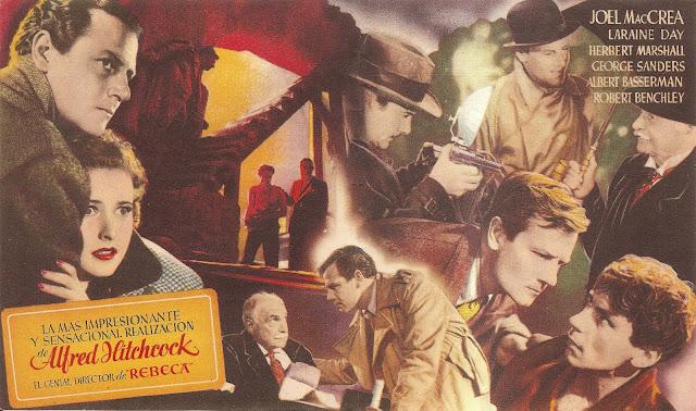 Programa de Cine - Enviado Especial  -  Alfred Hitchcock - Joel McCrea - Laraine Day