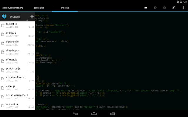 DroidEdit Free code editor