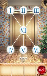 Римские числа на 27 уровне 100 дверей сезоны расположены хаотично