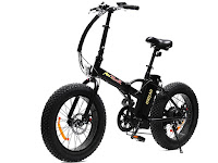 """Addmotor MOTAN M-150 Fat Tire Portable Folding Electric Bicycle, with 20"""" by 4"""" wide fat tires, 500w motor, 48v 10.4AH lithium battery, 5 levels of pedal assist, speeds up to 23 mph, distance range up to 55 miles"""