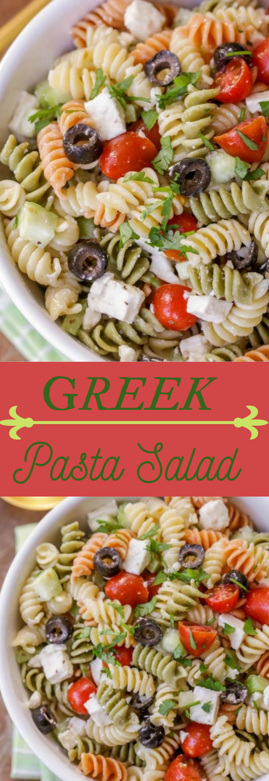 GREEK PASTA SALAD #diet #salad