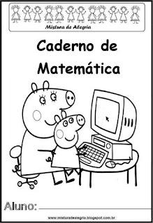 Capa caderno para matemática