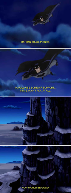 batman needing some flying assistance