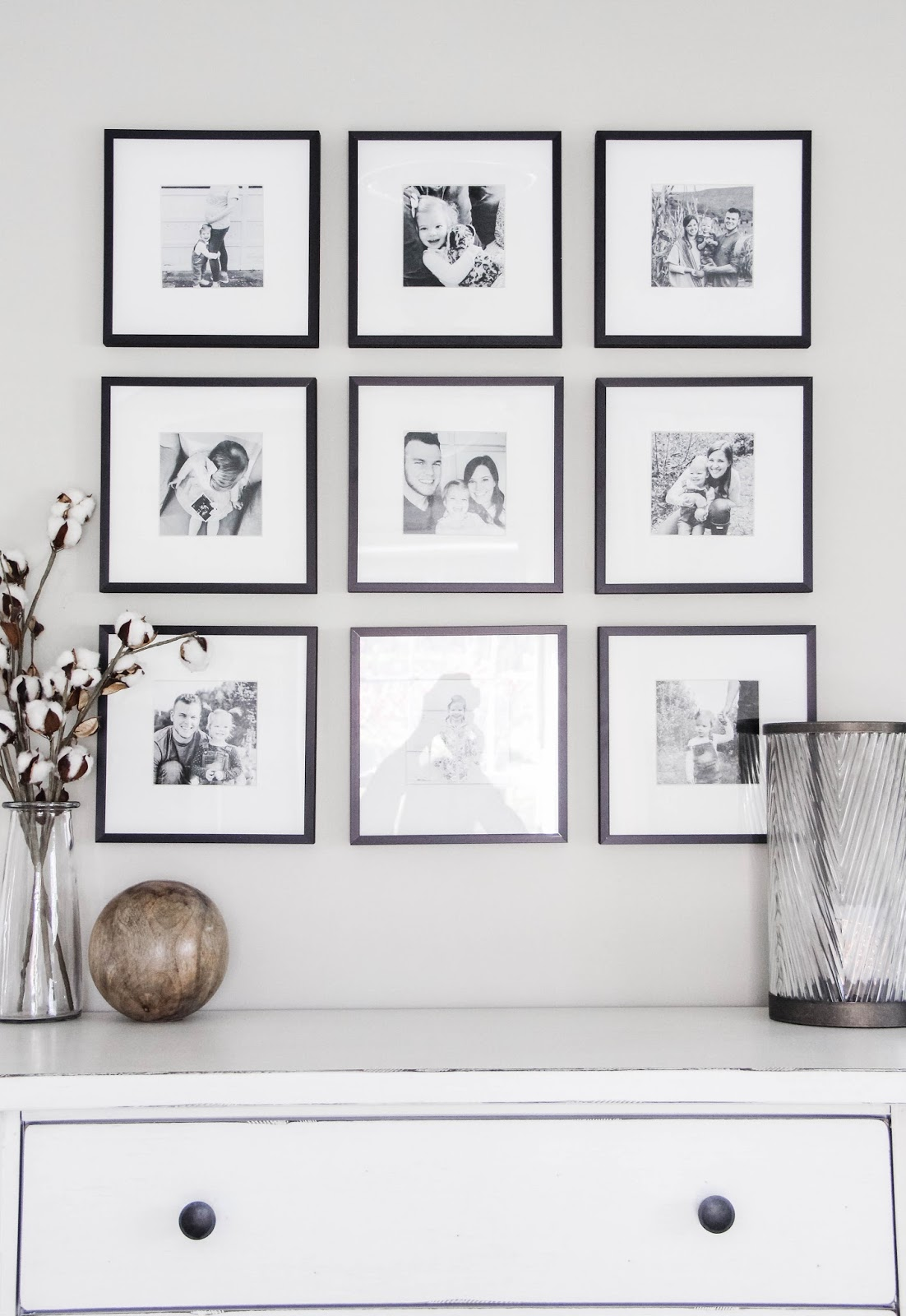 Master Bedroom Black White Gallery Wall Home On Oak
