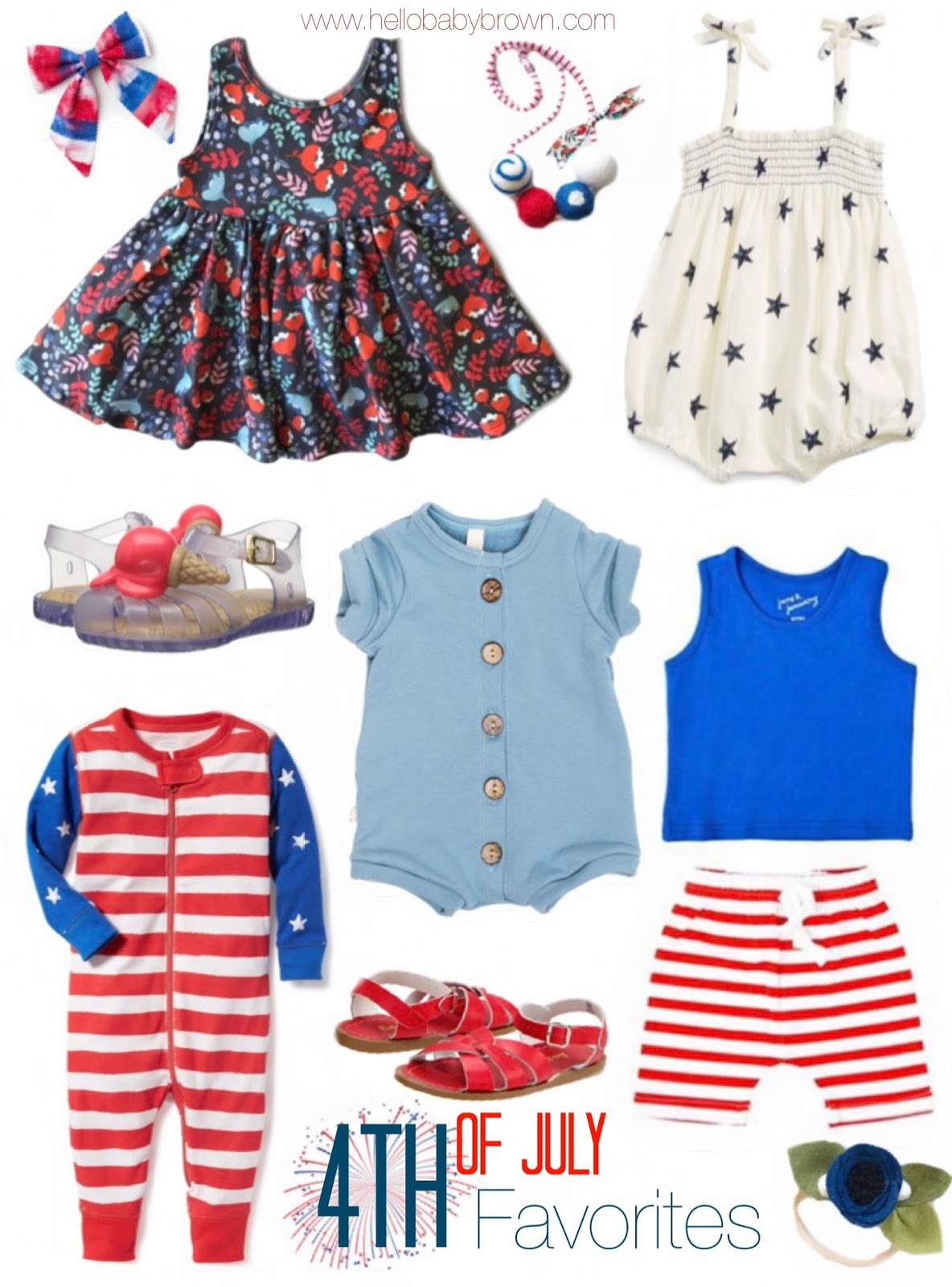 f7bc74bbe312 Hello Baby Brown  Fourth of July Favorites!