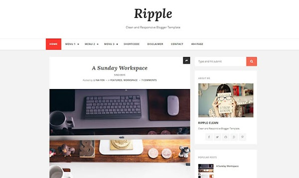 Chia sẻ Ripple Mag Blogger Template