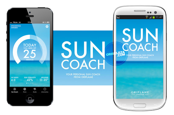 Aplicação Sun Coach by Oriflame