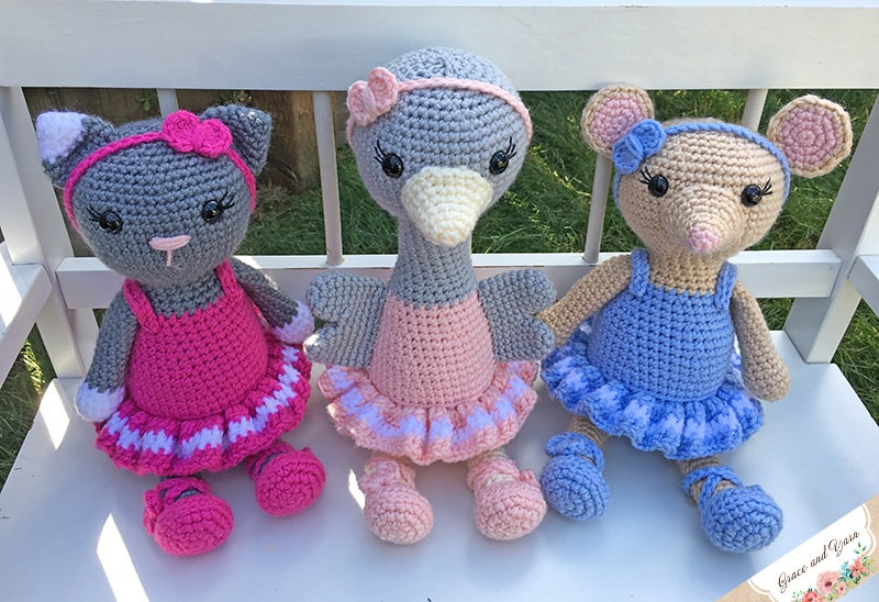 Ballerina doll amigurumi crochet pattern - Amigu World | 548x800
