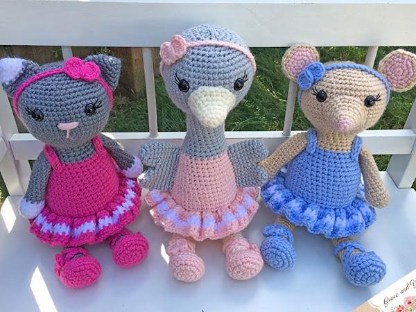 Amigurumi Ballerina Bunch - Free Crochet Patterns