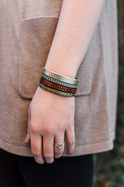 favorite jewely pieces affordable style fashion beauty blogger greenville sc everyday emily lily noelle jewelry leather cuff upstate