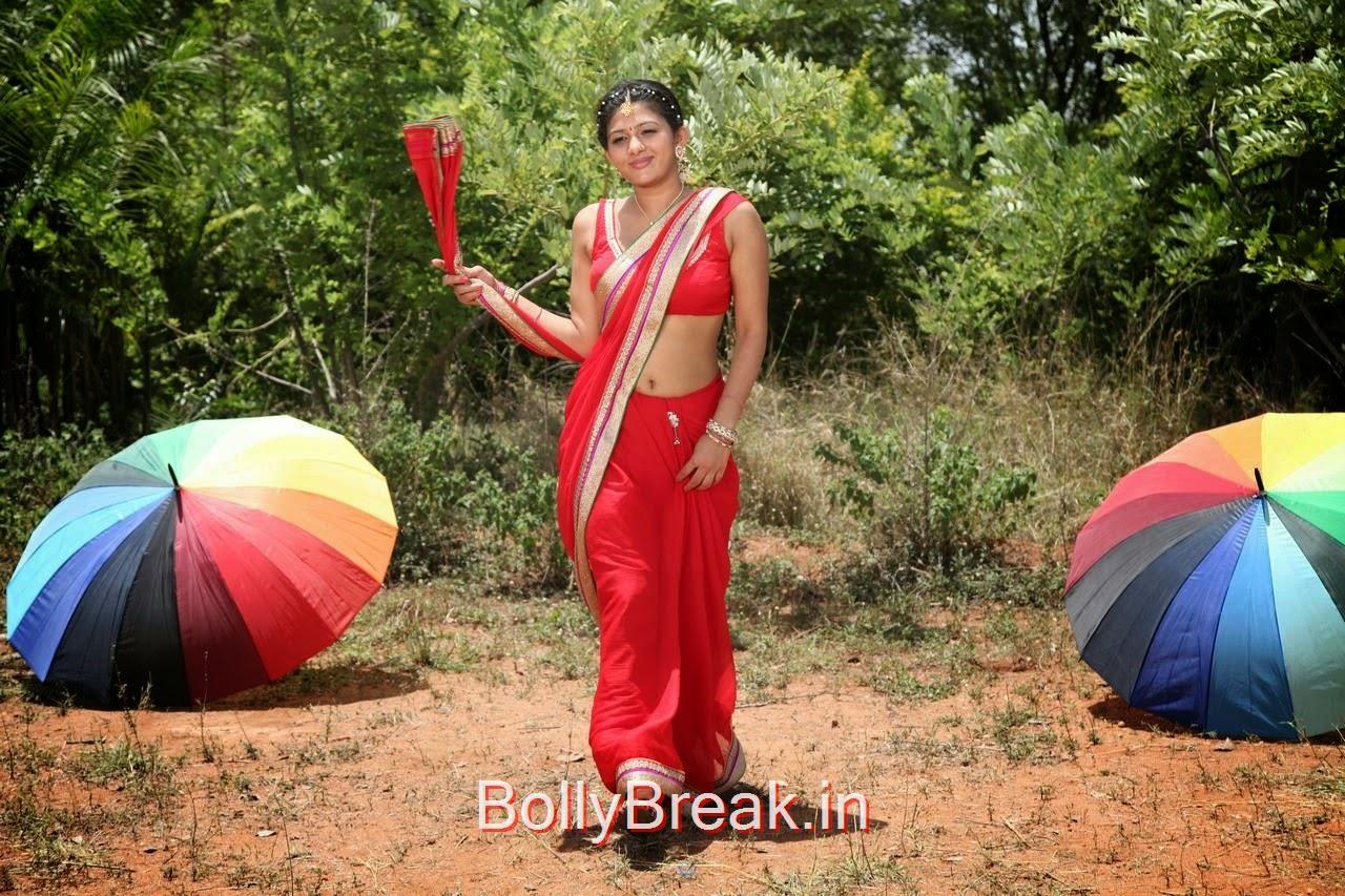 hot actress exposing images, Manjula Rathod Hot Pics in Red Saree