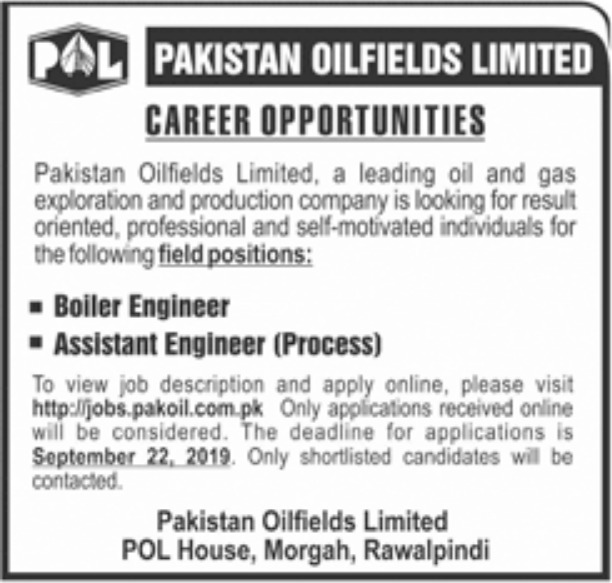 POL New Vacancy 2019 Online Apply