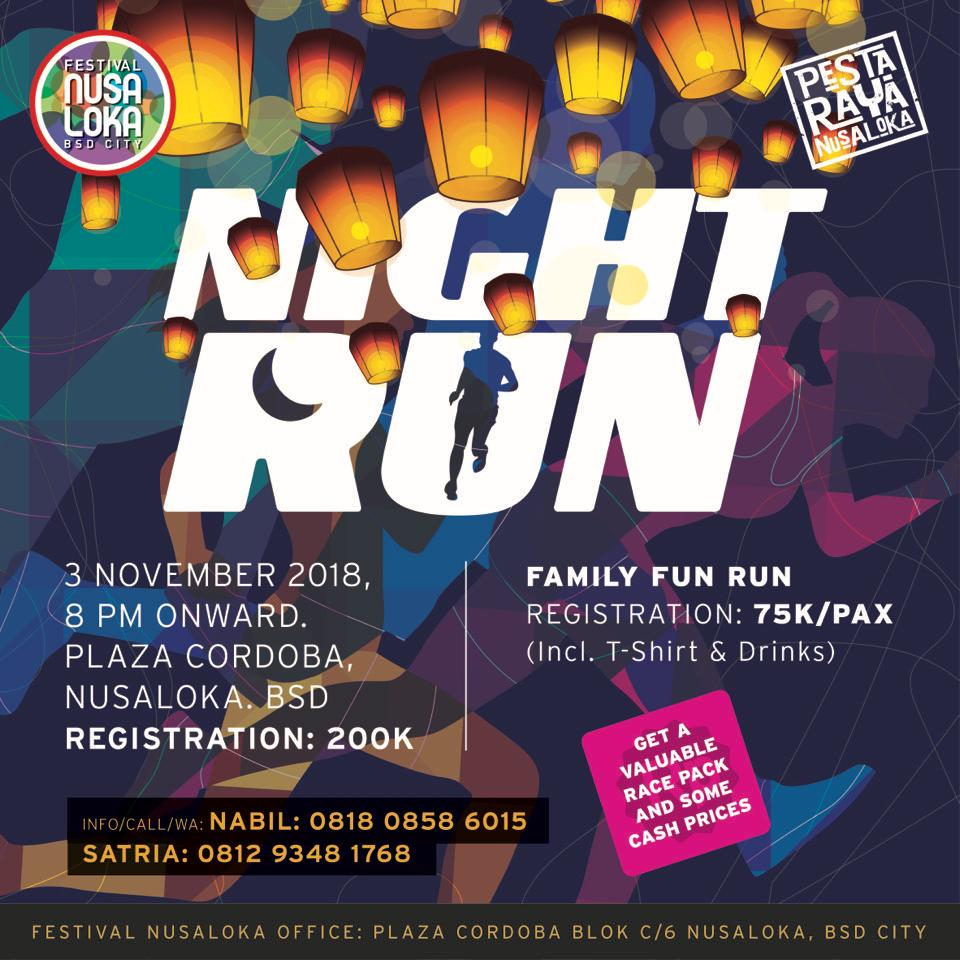 Festival Nusa Loka Night Run • 2018