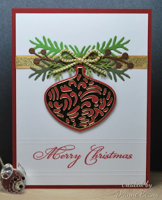 ODBD Christmas Verses, ODBD Custom Delightful Decorations Dies, Card Created by Diane Beans aka sarahebo