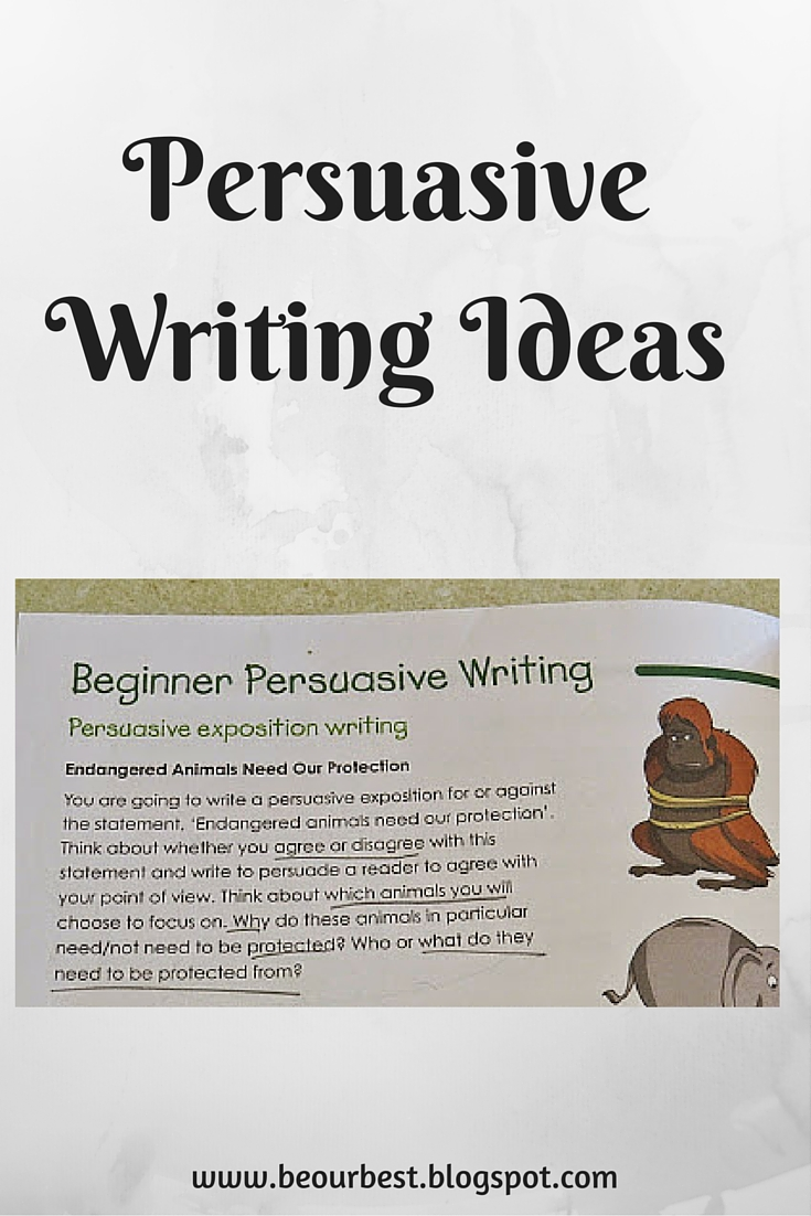 persuasive writing ideas for kids Many students struggle with persuasive writing try implementing some of these activities or prompts to get your students moving on the right track.