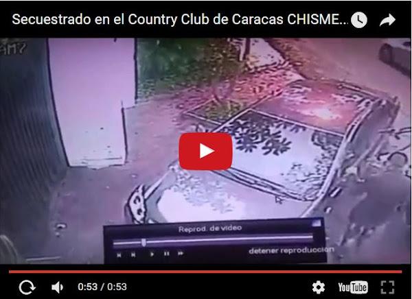 Otro secuestro en el Country Club de Caracas
